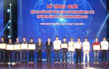 """Nhóm sinh viên Trường Đại học Công nghệ Thông tin ĐHQG-HCM giành nhiều giải thưởng tại """"HỘI THI GIẢI PHÁP ỨNG DỤNG TRÍ TUỆ NHÂN TẠO (AI) NĂM 2020"""""""
